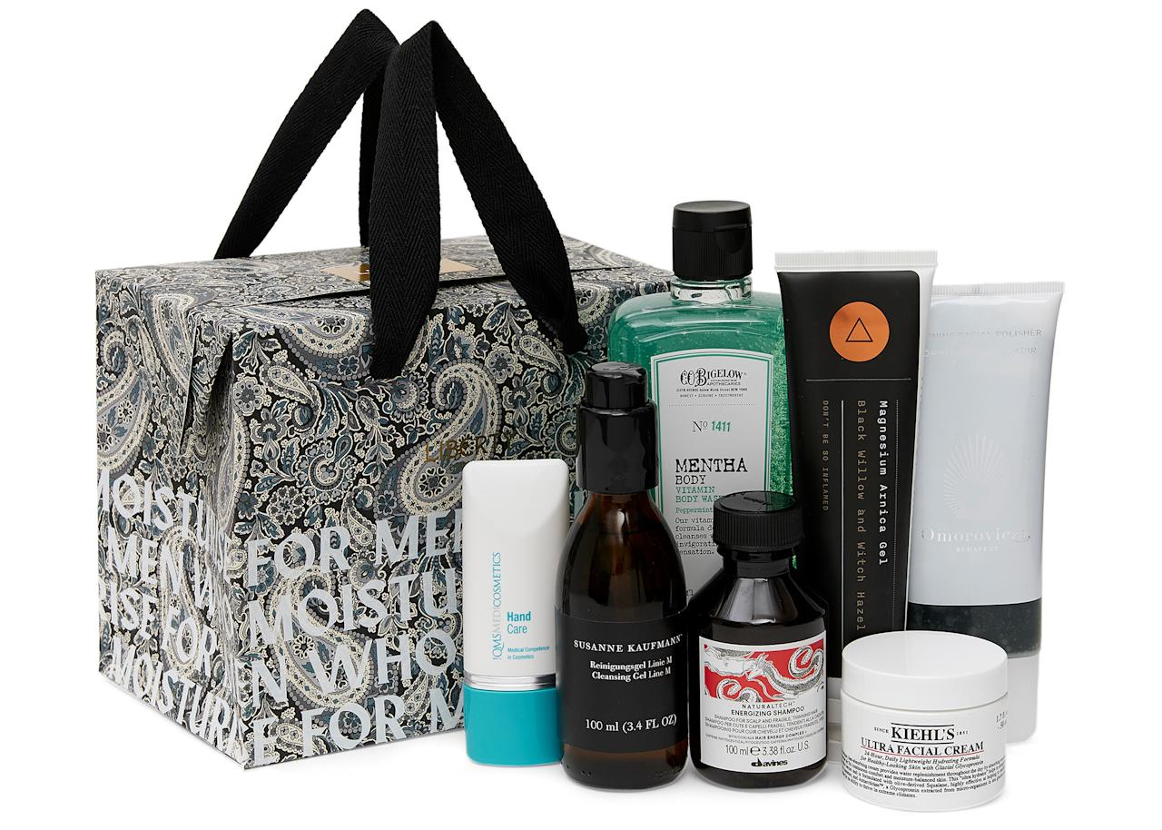 "Make sure your dad is kitted out this summer with Liberty London's 'For Men Who Moisturise' gift set. Jam-packed with seven must-have beauty items from the must-have Davines Energising Shampoo to the Ultra Facial Cream by Kiehl's, this is sure to put a smile on his face. <a href=""https://go.skimresources.com?id=134214X1597530&xs=1&url=https%3A%2F%2Fwww.libertylondon.com%2Fuk%2Ffor-men-who-moisturise-grooming-kit-R285091006.html%3Fdwvar_000625425_color%3D98-NO%2520COLOUR%26listsrc%3DMen%2526%252339%253Bs%2520Grooming%23start%3D1""><em>Buy now</em></a><em>.</em>"