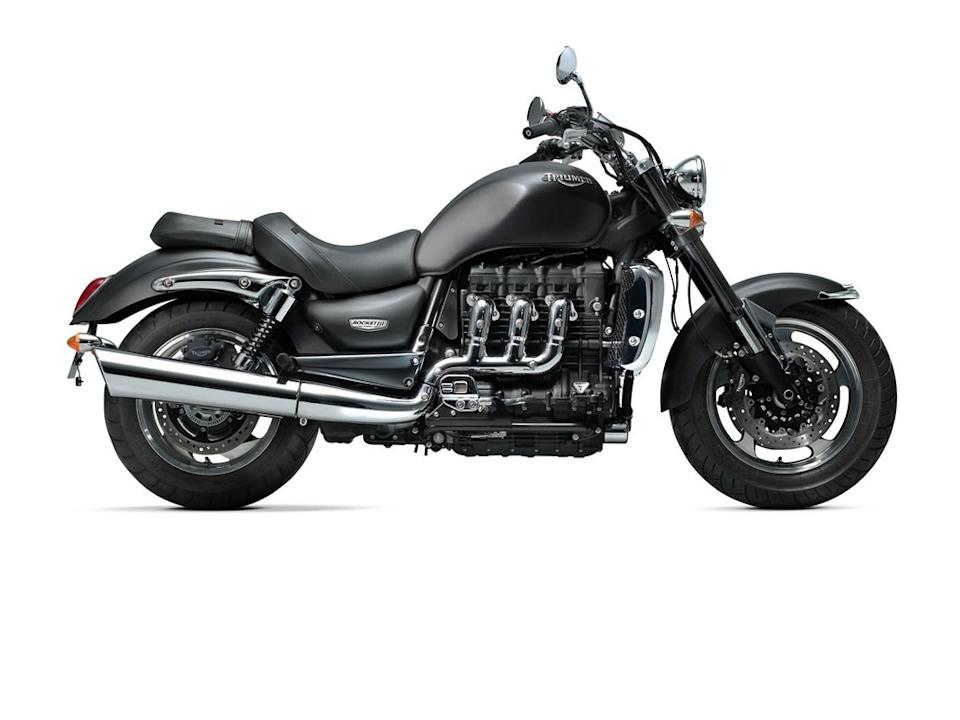 The Triumph Rocket needs no introduction, with power coming in from a 2294cc, three-cylinder engine.