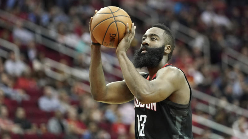 5212e1bc4501 Rockets G James Harden has an idea why he shoots so many free throws