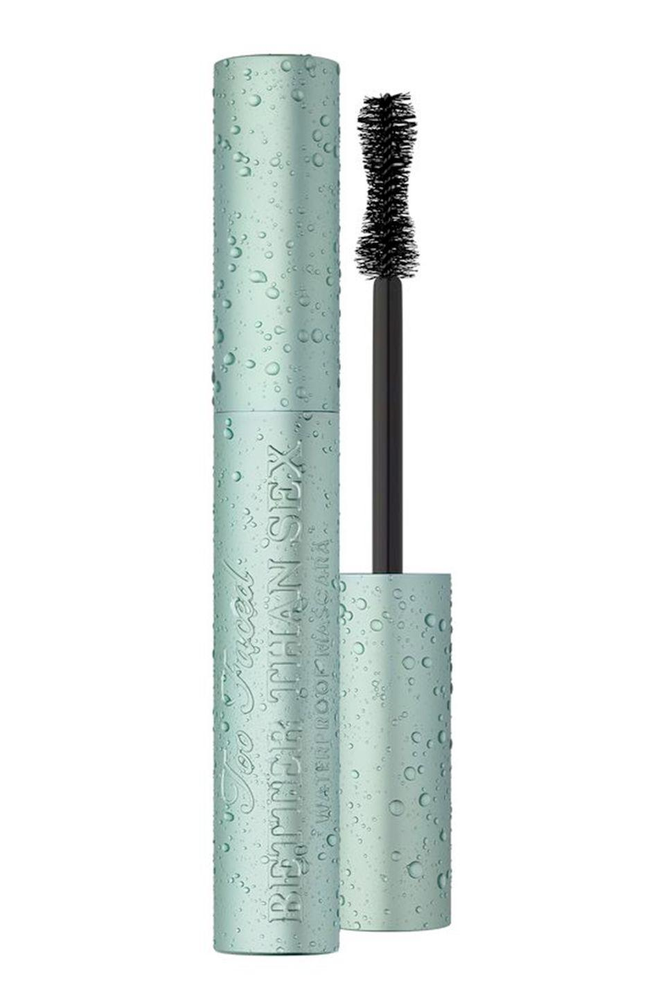 """<p>Remember when Too Faced changed the mascara game for good with Better Than Sex? Well, turns out it <em>is</em> possible to improve upon perfection...How? By making it waterproof. Yup, the Better Than Sex Waterproof gives all the volume, length and curl but with the ridiculous staying power you'd expect from a waterproof formula. </p><p><a href=""""https://www.debenhams.com/webapp/wcs/stores/servlet/prod_10701_10001_154614110899_-1"""" rel=""""nofollow noopener"""" target=""""_blank"""" data-ylk=""""slk:buy now"""" class=""""link rapid-noclick-resp"""">buy now</a><br></p>"""