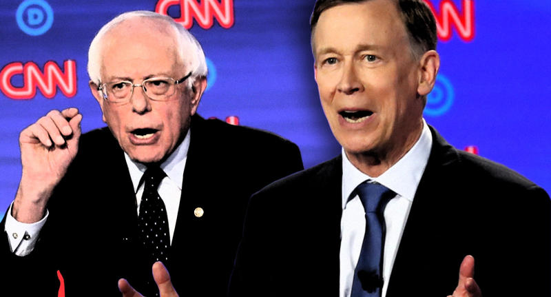 Sen. Bernie Sanders and former Colorado Gov. John Hickenlooper