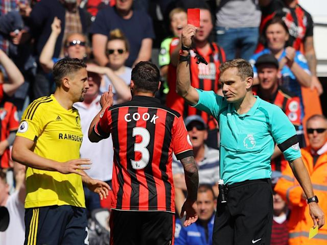 It went from bad to worse as Ramirez was shown a second yellow card (Getty)