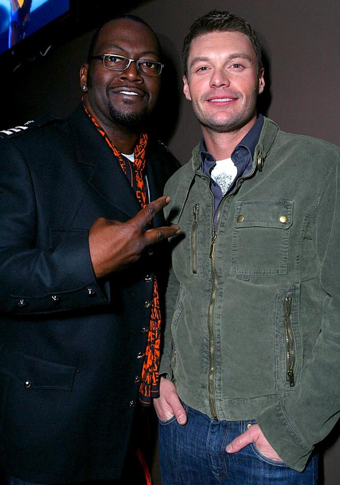 """American Idol's"" Randy Jackson and Ryan Seacrest make the scene at the Victoria's Secret fete. Judging from this pic, Ryan either needs more sleep or has had too much to drink! Alexandra Wyman/<a href=""http://www.wireimage.com"" target=""new"">WireImage.com</a> - February 2, 2008"