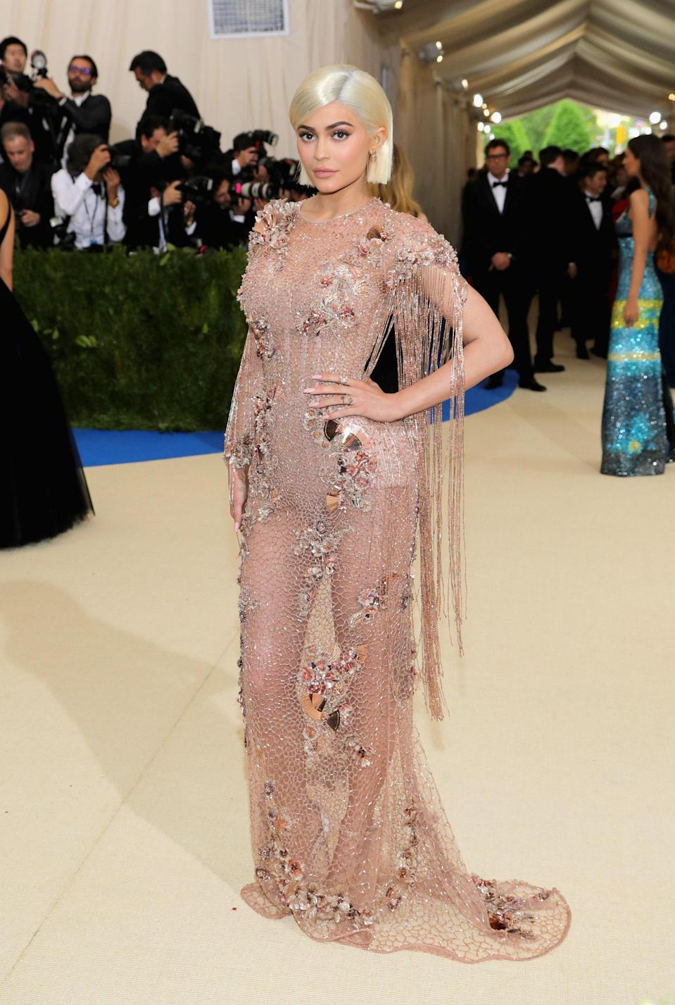 """<h1 class=""""title"""">Kylie Jenner in Versace</h1> <cite class=""""credit"""">Photo: Getty Images</cite>"""