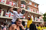 <p>Midfielder Eric Dier slotted home the winning spot kick to confirm England's place in the last eight of the tournament, sending fans into raptures. (Picture: PA) </p>
