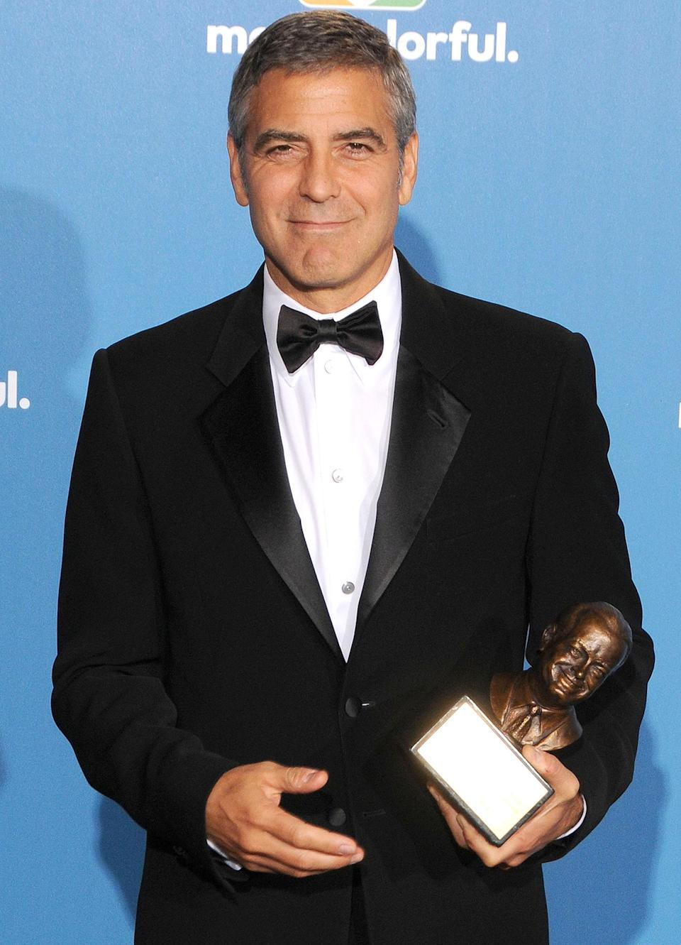 <p>Hollywood's most eligible bachelor (he wouldn't meet Amal until 2013!) George Clooney was honored with the Bob Hope Humanitarian Award. </p>