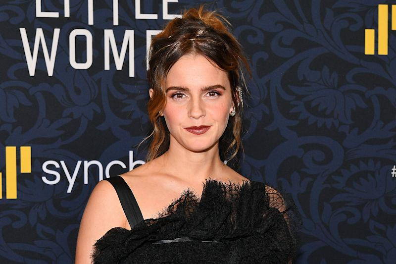 "NEW YORK, NEW YORK - DECEMBER 07: Emma Watson attends the ""Little Women"" World Premiere at Museum of Modern Art on December 07, 2019 in New York City. (Photo by Dia Dipasupil/Getty Images)"