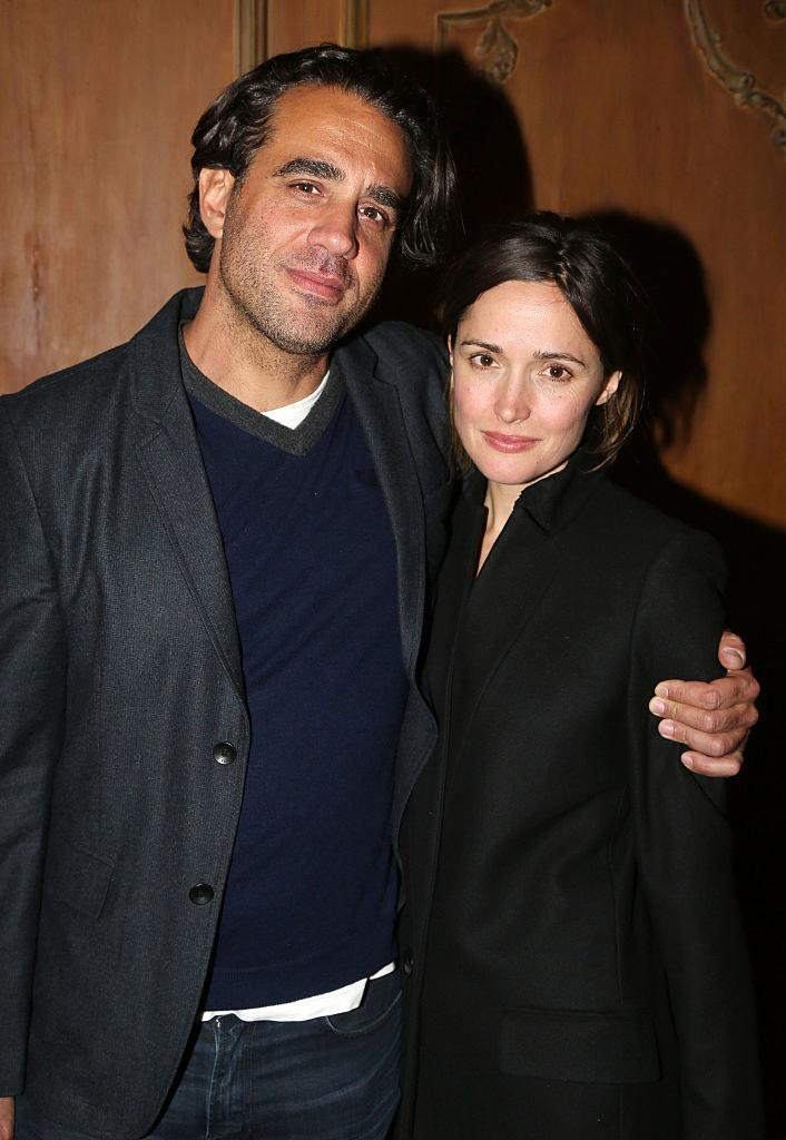 Bobby Cannavale (L) and Rose Byrne pose at the After Party