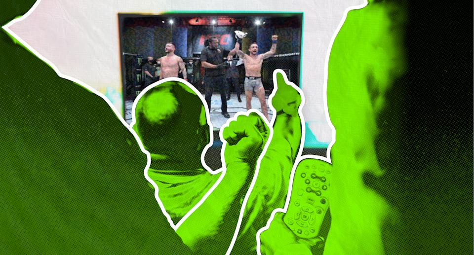 UFC ratings have been surging throughout the pandemic.(Paul Rosales & Michael Wagstaffe/Yahoo Sports)
