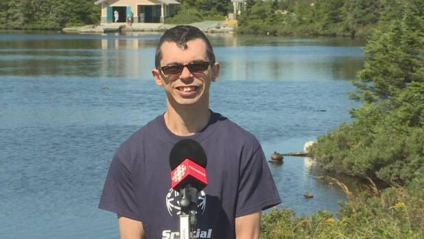 Mount Pearl soccer and floor hockey star Andrew Hynes will help carry the Flame of Hope from Moscow to Kazan, Russia where it will light the 2022 Special Olympics Commemorative Cauldron. (Emma Grunwald/CBC - image credit)