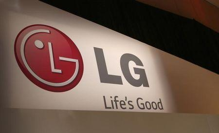 The LG company logo is seen following an event during the annual Consumer Electronics Show (CES ) in Las Vegas, Nevada January 6, 2014. REUTERS/Robert Galbraith