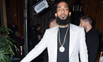 Rapper Nispey Hussle, real name Ermias Asghedom, was shot dead in Los Angeles outside of his clothing shop at the age of 33. His debut studio album <em>Victory Lap</em> had just been released the month before his death. (Photo by Vivien Killilea/Getty Images for PUMA)