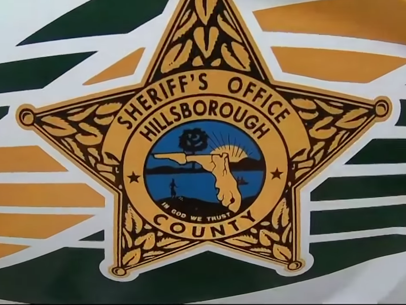 The badge for the Hillsborough County Sheriff's Office: (10 Tampa Bay - YouTube)