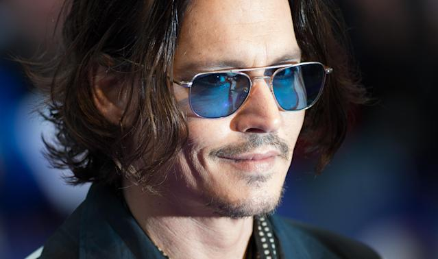 LONDON, ENGLAND - MAY 09: Actor Johnny Depp attends the European premiere of 'Dark Shadows' at Empire Leicester Square on May 9, 2012 in London, England. (Photo by Ian Gavan/Getty Images)