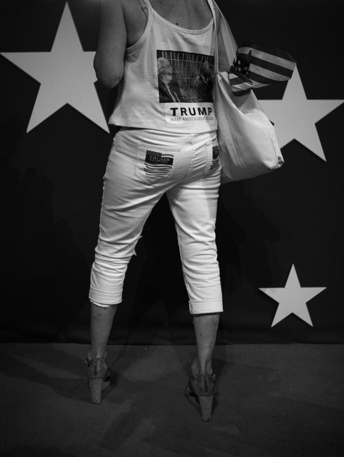 <p>Trump supporter at the Republican National Convention Thursday, July 21, 2016, in Cleveland, OH. (Photo: Khue Bui for Yahoo News)</p>