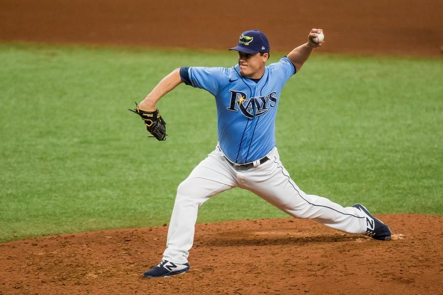 Aaron Loup with Rays