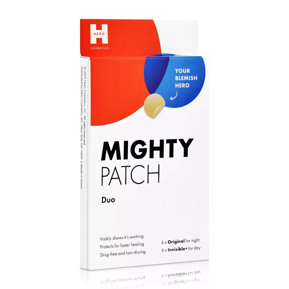 """<p>If you haven't tried banishing a blemish with a <a href=""""https://www.allure.com/story/pimple-patches-in-public-acne-acceptance?mbid=synd_yahoo_rss"""">hydrocolloid patch</a>, these Mighty Patches are a great first foray into this type of treatment. The little stickers absorb fluids from pimples to help speed up healing while simultaneously serving as a picking and popping deterrent. This pack comes with both Hero Cosmetics' original patches that are perfect for overnight use and invisible ones to wear discreetly during the day.</p> <p>$7 (<a href=""""https://www.target.com/p/mighty-patch-hero-cosmetics-duo-12ct/-/A-76462859"""" rel=""""nofollow"""">Shop Now</a>)</p>"""