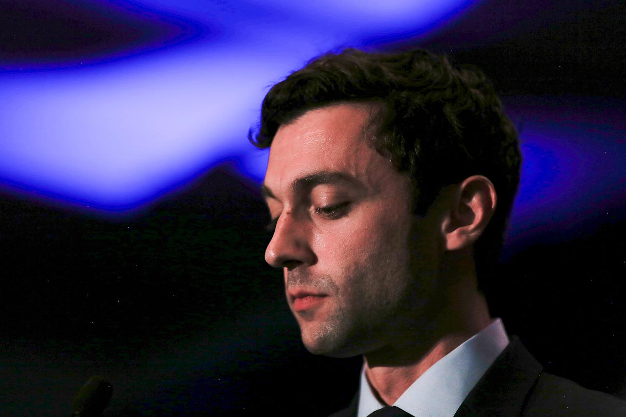 Jon Ossoff addresses his supporters after his defeat in Georgia's 6th Congressional District special election in Atlanta, Georgia, U.S., June 20, 2017.  REUTERS/Chris Aluka Berry     TPX IMAGES OF THE DAY