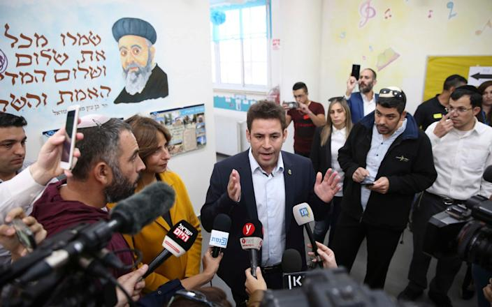 Ofer Berkovitch, a 35-year-old city councillor, was the only secular candidate in a crowded field. - AP