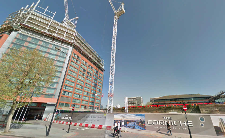 <em>Mr Ferris was pronounced dead after police were called to The Corniche development on the Albert Embankment (Google)</em>