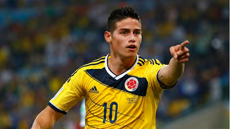James Rodriguez Colombia Uruguay Fifa World Cup Brazil 28062014
