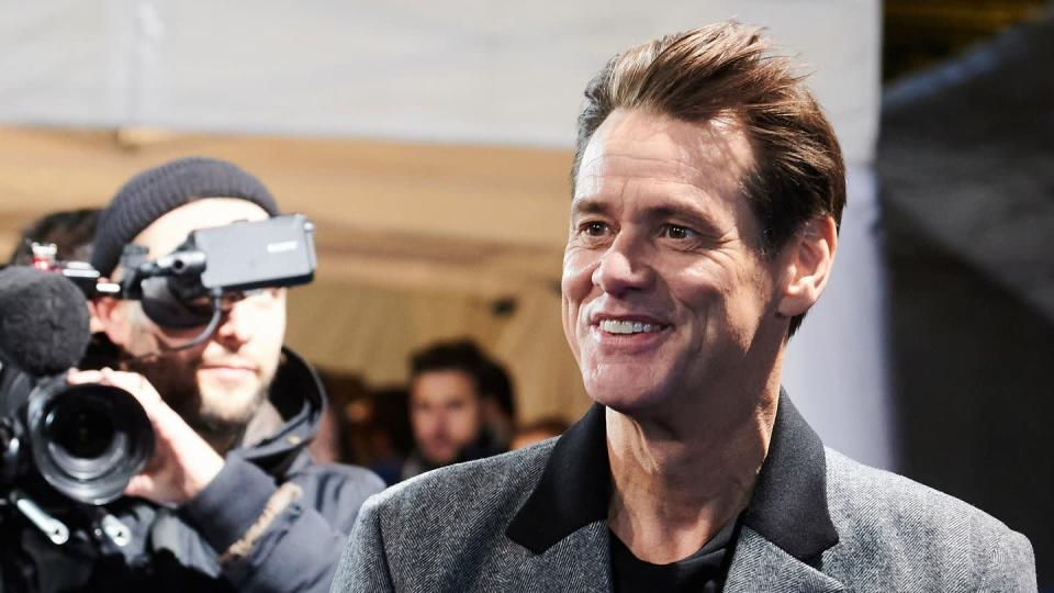 "Jim Carrey 2020 bei der Premiere von ""Sonic The Hedgehog"" in Berlin."