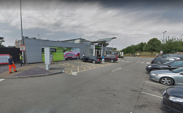 Aadil Umair Rahim was found safe and well nine hours after disappearing from Newport Pagnell Services near the M1 (Picture: Google Maps)