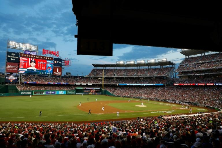 A general view of Nationals Park stadium in Washington, DC, during the 89th MLB All-Star Game, on July 17, 2018