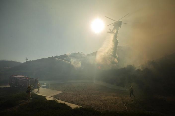 SANTA CLARITA, CA - APRIL 28: The North Fire that started in Castaic burned about 150 acres while briefly threatening homes in Valencia. Photographed at Valencia on Wednesday, April 28, 2021 in Santa Clarita, CA. (Myung J. Chun / Los Angeles Times)