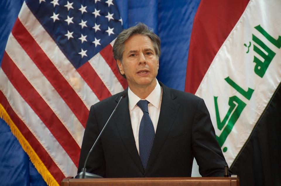 United States Deputy Secretary of State Tony Blinken attends a press conference at the Embassy of the United States of America in Baghdad, Iraq on September 14, 2016. (Getty Images)