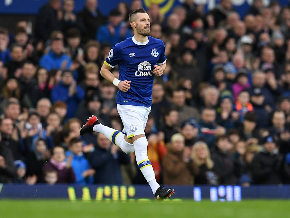 The Frenchman joined Everton in January: Getty