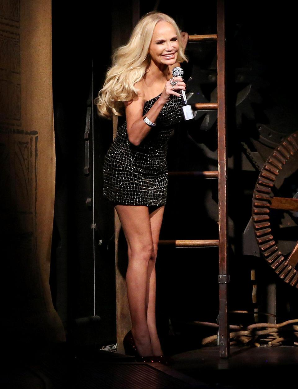<p>There to help with the re-opening night of <em>Wicked </em>was original cast member, Kristin Chenoweth! Chenoweth played Glinda when the show first opened in 2003, scoring a Tony nomination for her work. </p>