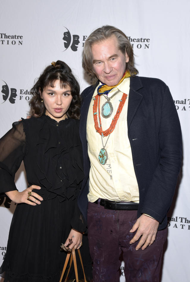 Val Kilmer and his daughter Mercedes at the 2019 annual Thespians Go Hollywood Gala at Avalon Hollywood on Nov. 18, 2019 in Los Angeles, Calif. (Photo: Getty Images)