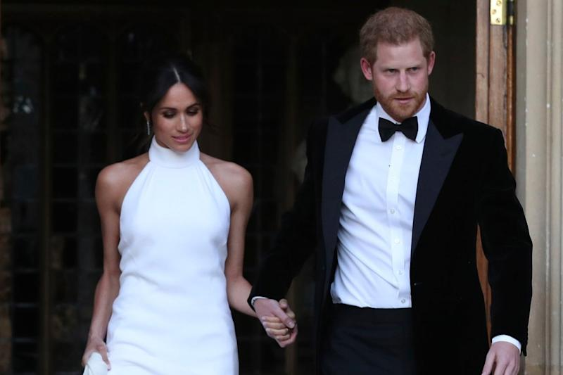 Meghan Markle and Prince Harry leave Windsor Castle after their wedding (WPA ROTA)
