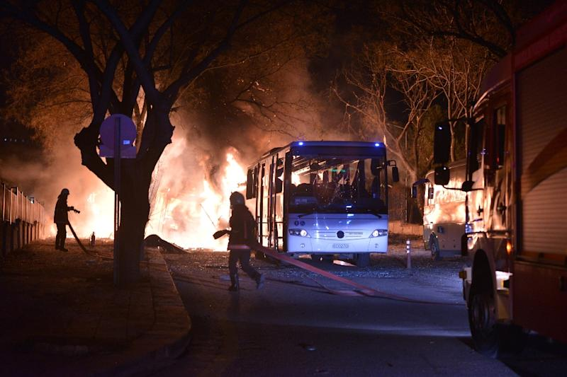 The February 2016 attack targeted a military convoy and left 29 dead and dozens wounded (AFP Photo/STRINGER)