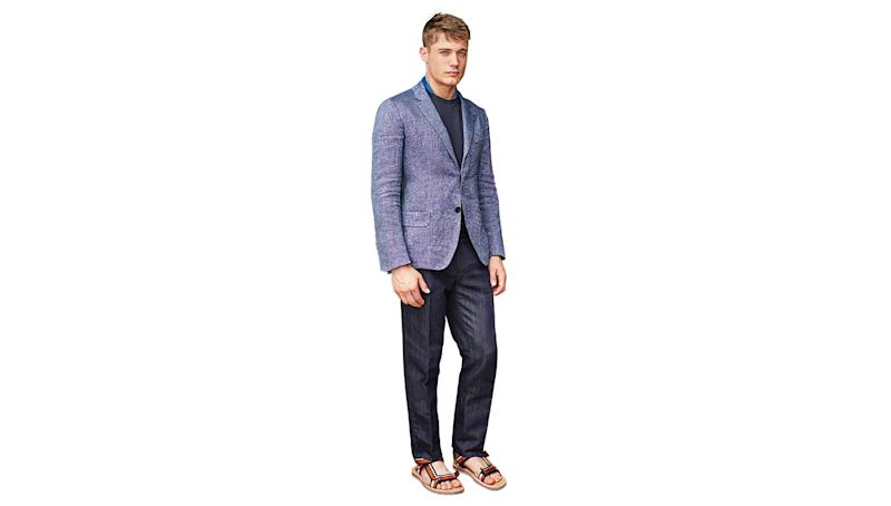 A perennial favorite in menswear, blue is showing up in au courant shades that are fresh and bright and promise to deliver a pop of personality to your spring wardrobe.