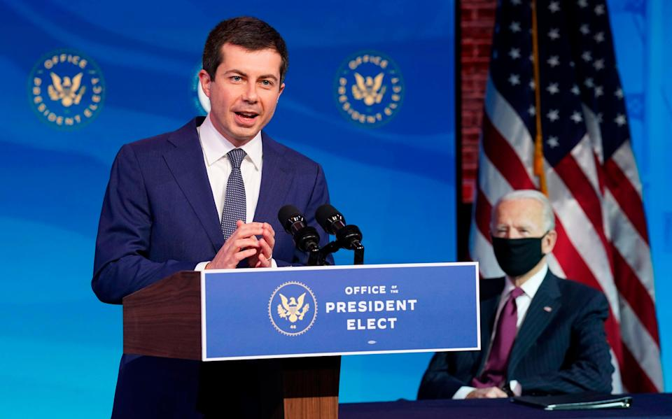 Transport Secretary Pete Buttigieg is an Oxford alum (POOL/AFP via Getty Images)