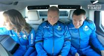 <p>Shatner is seen headed to the launch pad before his historic flight.</p>