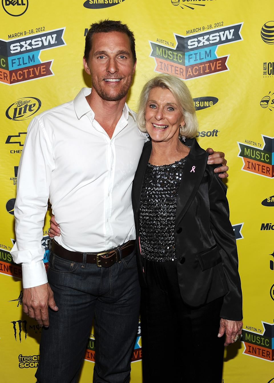 """Matthew McConaughey attends """"Bernie"""" Greenroom Photo Opduring the 2012 SXSW Music, Film + Interactive Festival at Paramount Theatre on March 13, 2012 in Austin, Texas."""