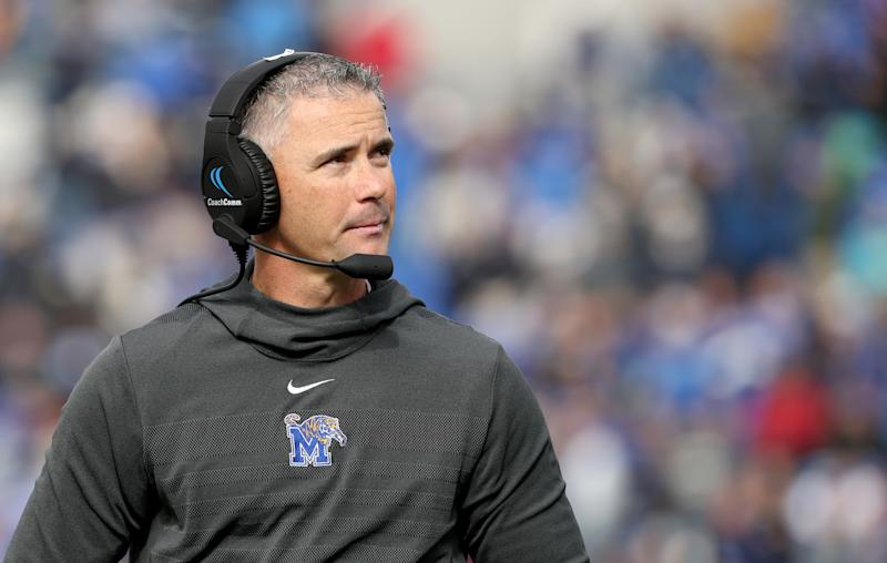 Memphis Tigers head coach Mike Norvell is one of the most sought-after Group of Five coaches in college football. (Getty)