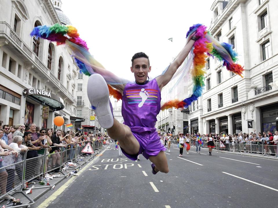 A parade participant at Pride in London 2019: Getty Images