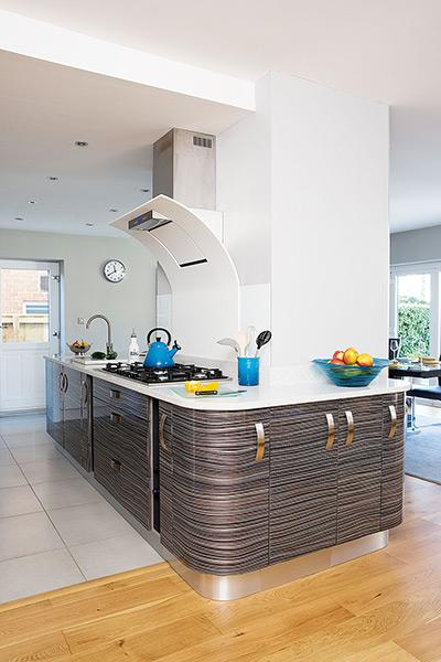 new family kitchen extension in a 1960s house