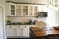 """<p>See how a touch of texture from the wallpaper makes them look more luxe?</p><p><strong>Get the tutorial at <a href=""""http://www.brandisawyer.com/2013/10/beadboard-wallpaper-cabinet-tutorial.html"""" rel=""""nofollow noopener"""" target=""""_blank"""" data-ylk=""""slk:BrandiSawyer.com"""" class=""""link rapid-noclick-resp"""">BrandiSawyer.com</a>.</strong></p><p><strong><a class=""""link rapid-noclick-resp"""" href=""""https://www.amazon.com/HOMCOM-Traditional-Colonial-Standing-Cupboard/dp/B073ZJWHH3?tag=syn-yahoo-20&ascsubtag=%5Bartid%7C2139.g.34085615%5Bsrc%7Cyahoo-us"""" rel=""""nofollow noopener"""" target=""""_blank"""" data-ylk=""""slk:SHOP FREESTANDING PANTRIES"""">SHOP FREESTANDING PANTRIES</a><br></strong></p>"""