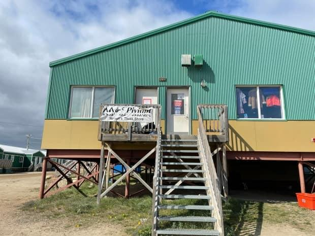 Iqaluit's Piviniit Thrift Store rents its space from the Qajuqturvik Community Food Centre. (David Gunn/CBC - image credit)