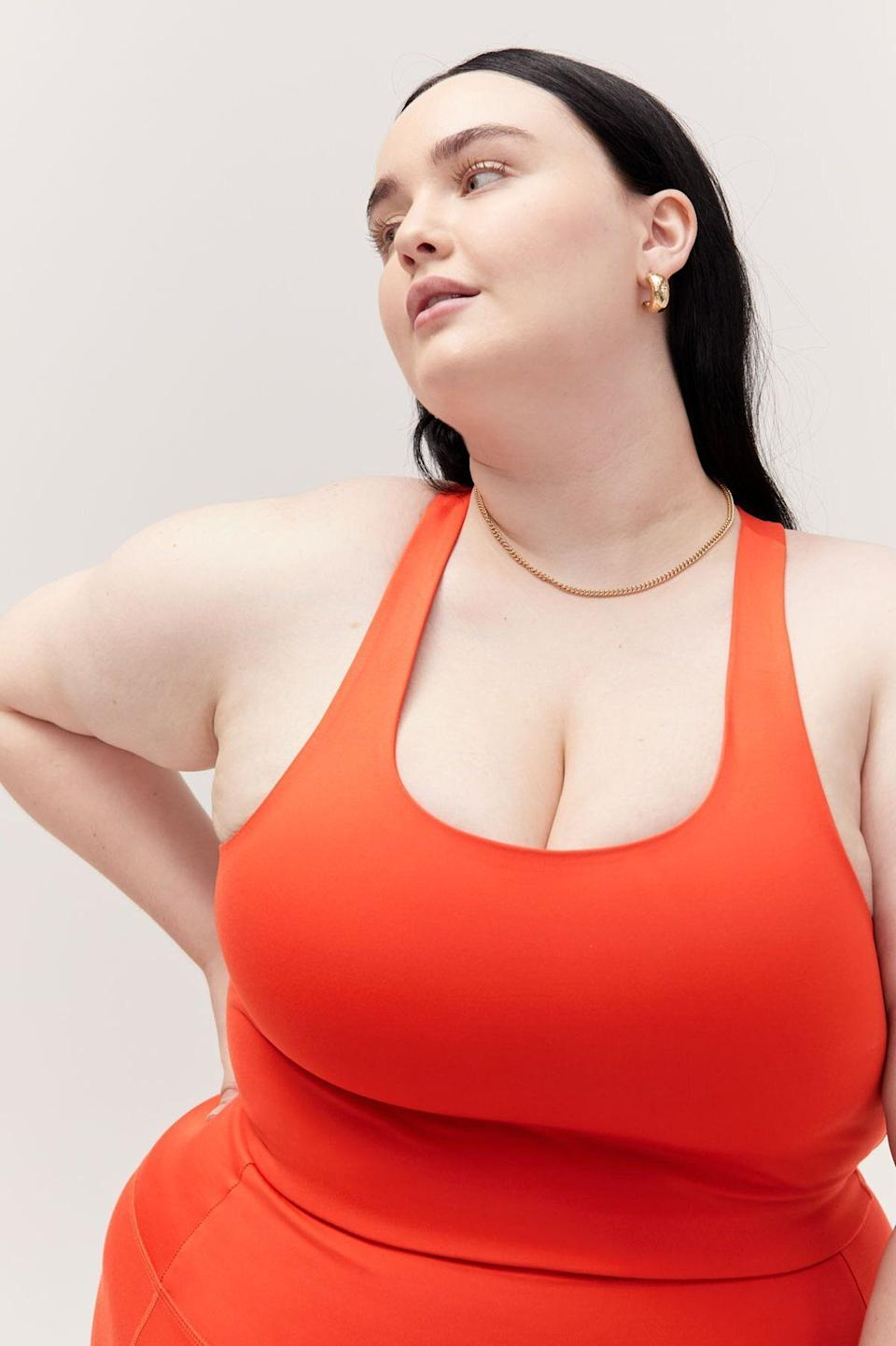 "The ""Paloma"" is the brand's bestselling bra and comes with a racerback and long-line silhouette. <a href=""https://fave.co/31GnmRW"" target=""_blank"" rel=""noopener noreferrer"">Originally $38, get it now for 30% off at Girlfriend Collective</a>."