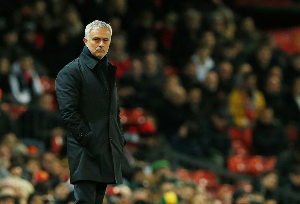 Almost a year after being fired by Manchester United, Jose Mourinho retuned to Old Trafford Wednesday as manager of Tottenham Hotspur. (Reuters/Andrew Yates)