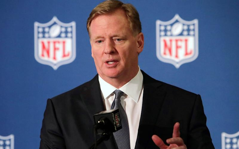 Roger Goodell admits NFL were wrong for not listening to NFL players earlier and encourage all to speak out and peacefully protest. - AP