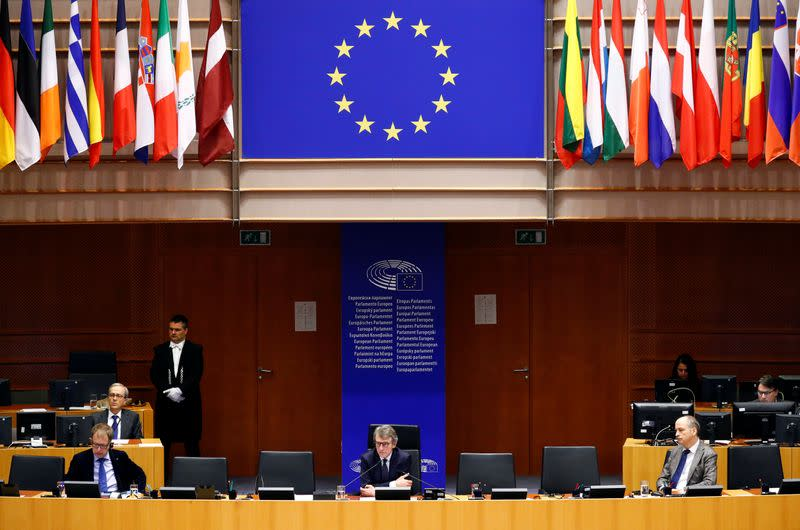 Special session of EU Parliament on coronavirus disease (COVID-19) in Brussels