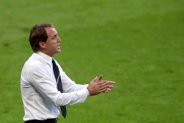 Italy are managed by Roberto Mancini (Nick Potts/PA).