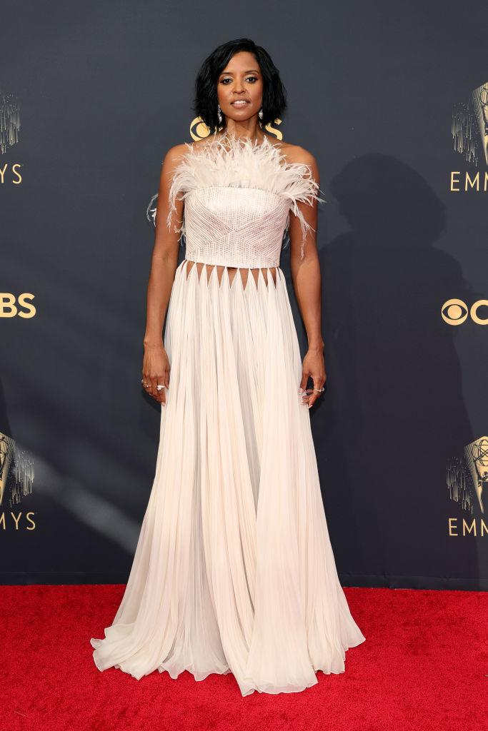 Renée Elise Goldsberry attends the 73rd Primetime Emmy Awards on Sept. 19 at L.A. LIVE in Los Angeles. (Photo: Rich Fury/Getty Images)